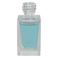 15mL Clear Tall Rectangular Glass Bottle with 18/415 Neck (Cap Sold Separately)
