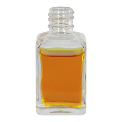 1 oz. Clear Rounded Square Glass Bottle with 18/415 Neck (Cap Sold Separately)