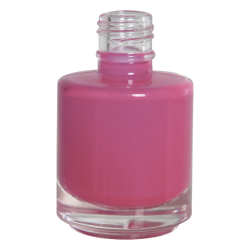 1/2 oz. Clear Stubby Cylinder Glass Bottle with 18/415 Neck (Cap Sold Separately)