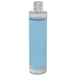1.69 oz. Clear Tall Cylinder Glass Bottle with 18/415 Neck (Cap Sold Separately)