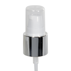 20/400 White/Silver Smooth Long Shell Treatment Pump - 3-1/4