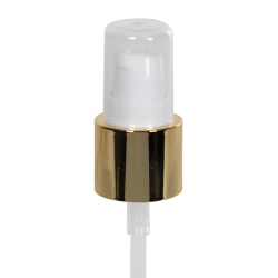 20/400 White/Gold Smooth Long Shell Treatment Pump - 3-1/4