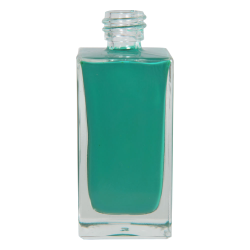 50mL Clear Square Glass Bottle with 18/415 Neck (Cap Sold Separately)