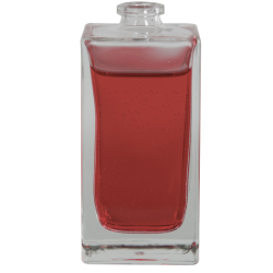 50mL Clear Square Glass Perfume Bottle with 15mm Neck - Case of 168 (Cap Sold Separately)