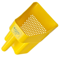 Yellow Sifting Scoop with 1/4