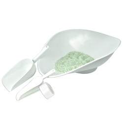 8 oz. White HDPE Scoop