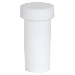 1 oz. White Polypropylene Round Ointment Jar with Cap
