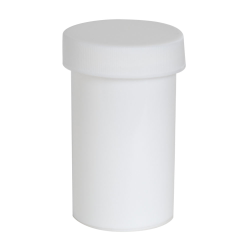 2 oz. White Polypropylene Round Ointment Jar with Cap