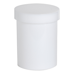 4 oz. White Polypropylene Round Ointment Jar with Cap