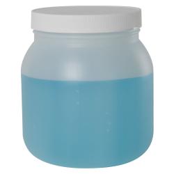 64 oz. Wide Mouth HDPE Jar with 120/400 Polypropylene Cap