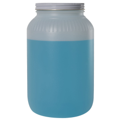 128 oz. Wide Mouth HDPE Jar with 110/400 Metal Cap