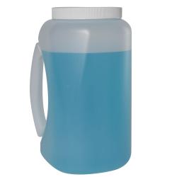 1 Gallon Natural HDPE Jar with Handle & 100mm Cap