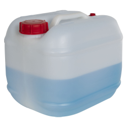 2.5 Gallon Natural HDPE Tight Head Container with 60mm Red Vented Cap