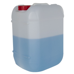 5 Gallon Natural HDPE Tight Head Container with 60mm Red Vented Cap