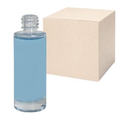 1 oz. Clear Tall Cylinder Glass Bottle with 18/415 Neck - Case of 48 (Cap Sold Separately)