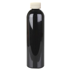 6 oz. Black PET Cosmo Round Bottle with CRC 24/410 Cap with F217 Liner
