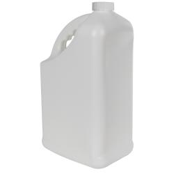 128 oz. White HDPE PCR Slant Handle Jug with 38/400 CRC Cap