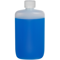 8 oz. Natural HDPE Oval Bottle with 24/410 CRC Cap