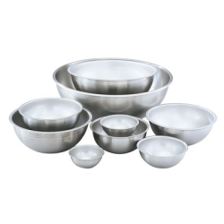 "4 Qt. Stainless Steel Mixing Bowl - 10-3/8"" OD x 4-1/4"" Deep"