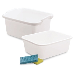 Rubbermaid® White Plastic Pans