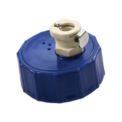 GL45 HDPE Cap with Valved 1/4
