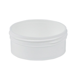 4 oz. Polypropylene Low Profile White Jar with 89mm Neck (Cap Sold Separately)