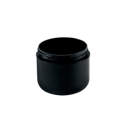 4 oz. Dome Double Wall Black Jar with 70/400 Neck (Cap Sold Separately)