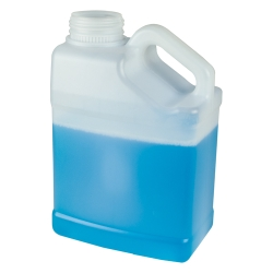 1 Gallon Natural HDPE F-Style Jug with Slant Handle & 63mm Neck  (Cap Sold Separately)