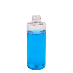 4 oz. Clear PET Cylindrical Bottle with 20/410 Neck (Cap Sold Separately)