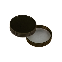 43/400 Polypropylene Black Cap with Heat Induction Liner