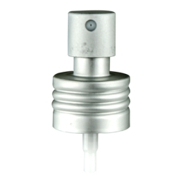 Aluminum Matte Silver Fine Mist Sprayer with 24/410 Thread & 7