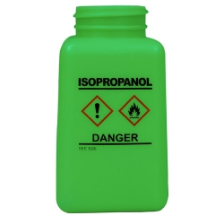 6 oz. DurAstitic™ Green HDPE Bottle with Isopropanol HCS Label  (Pump Sold Separately)