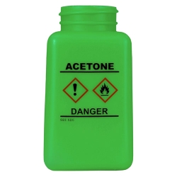 6 oz. DurAstitic™ Green HDPE Bottle with Acetone HCS Label   (Pump Sold Separately)