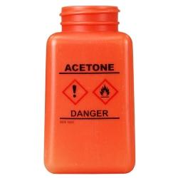 6 oz. DurAstitic™ Orange HDPE Bottle with Acetone HCS Label  (Pump Sold Separately)