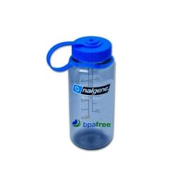 Gray 16 oz. Nalgene ® Tritan™ Wide Mouth Loop-Top Bottle