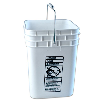 4 Gallon White HDPE Square Bucket (Lid Sold Separately)