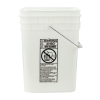 4 Gallon Natural HDPE Square Bucket (Lid Sold Separately)