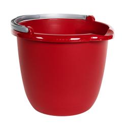 Sterilite ® Red 10 Quart Spout Pail with Handle