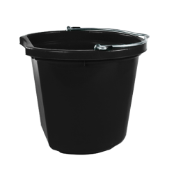 8 Quart Black Bucket