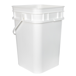 4.25 Gallon/17 Liter 30 Series White HDPE Square Pail with Handle