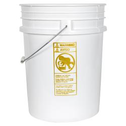 Premium White 20 Liter Bucket