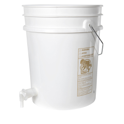 Premium White 5 Gallon Tamco ® Modified Bucket with Spigot