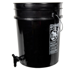 Premium Black 5 Gallon Tamco ® Modified Bucket with Spigot
