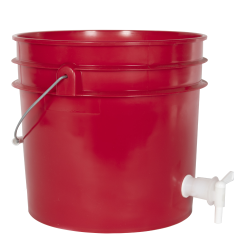 Premium Red 3.5 Gallon Tamco ® Modified Bucket with Spigot