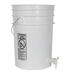 Premium White 6 Gallon Tamco ® Modified Bucket with Spigot