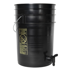 Premium Black 6 Gallon Tamco ® Modified Bucket with Spigot