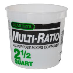 Leaktite ® 2-1/2 Quart HDPE Multi-Ratio Container (Lid Sold Separately)