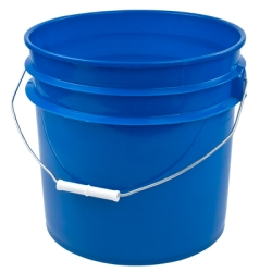 Blue 3-1/2 Gallon Bucket