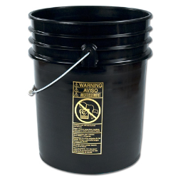 Letica ® Premium Black 5 Gallon Bucket