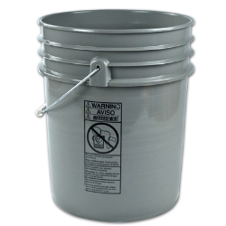 Letica ® Premium Gray 5 Gallon Bucket